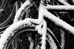 Title: Some Bike and Pieces of Snow