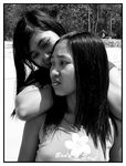 Title: Sisters in black and white
