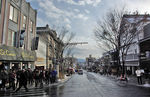 Title: Main Street in temple townPentax K10D