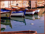 Title: Boats and Reflection