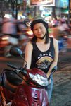 Title: Saigon scooter girlNikon D40X dSLR