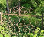 Title: Wrought Iron Gate - Past Glory