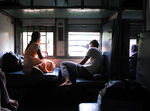 Title: Going home on the trainOlympus 5050