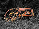 Title: Abandoned Tractor