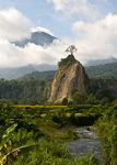 Title: Mono rock near Bukittinggi