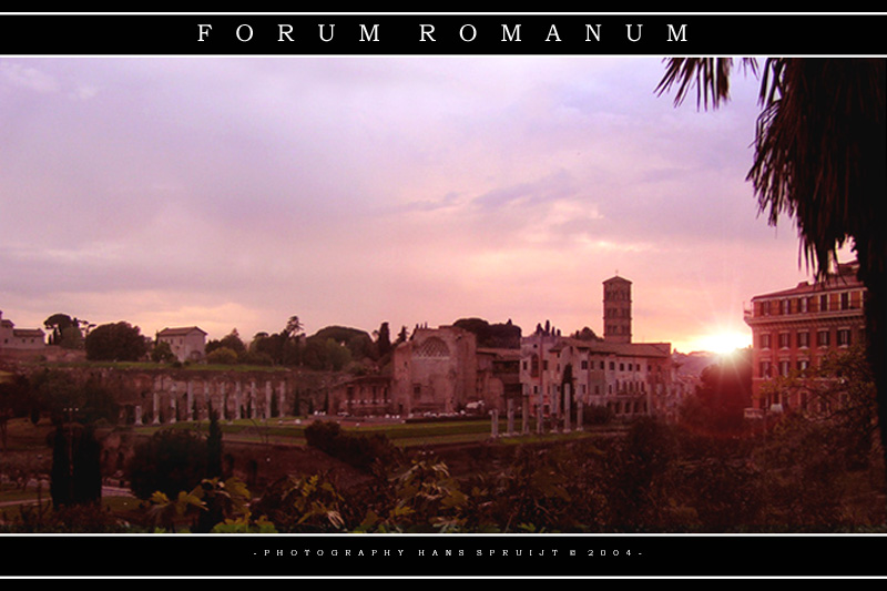 Forum Romanum sunset