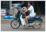 Title: Laotian speed on two wheels