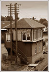 Title: Old Sepia:  Signalbox, Bo'ness StationCanon EOS 20D