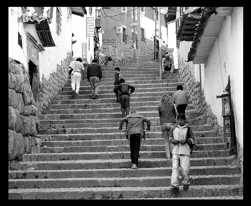 Cuzco Daily Life-Stairs