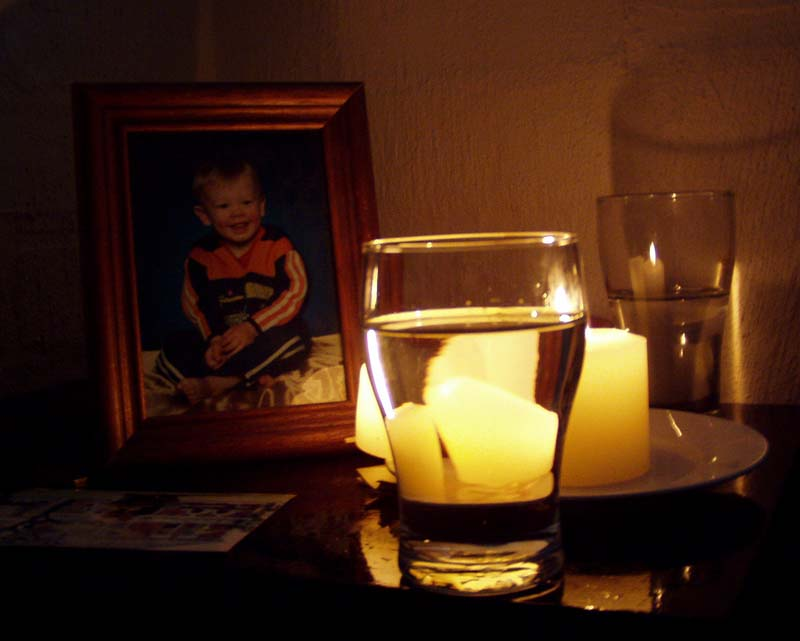 photo in the candle light