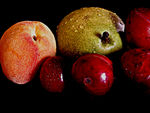 Title: Fruit series today Pear, Plums and Peach