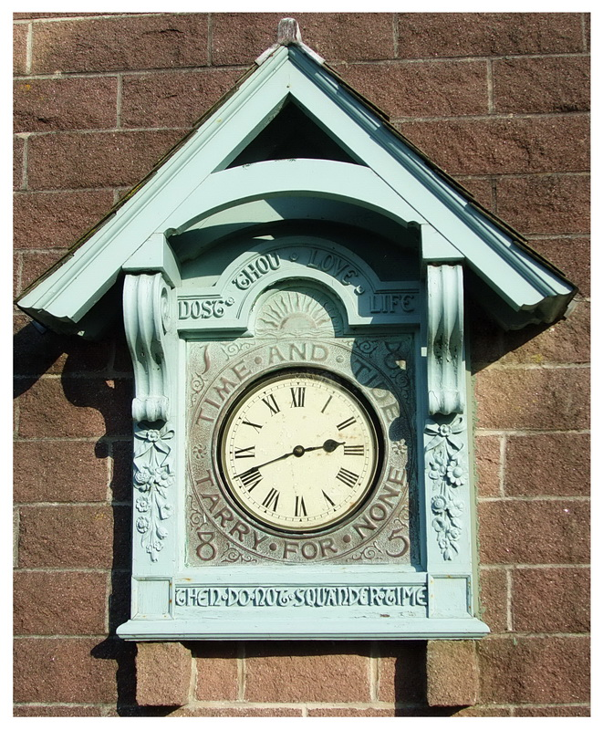 A clock with a message
