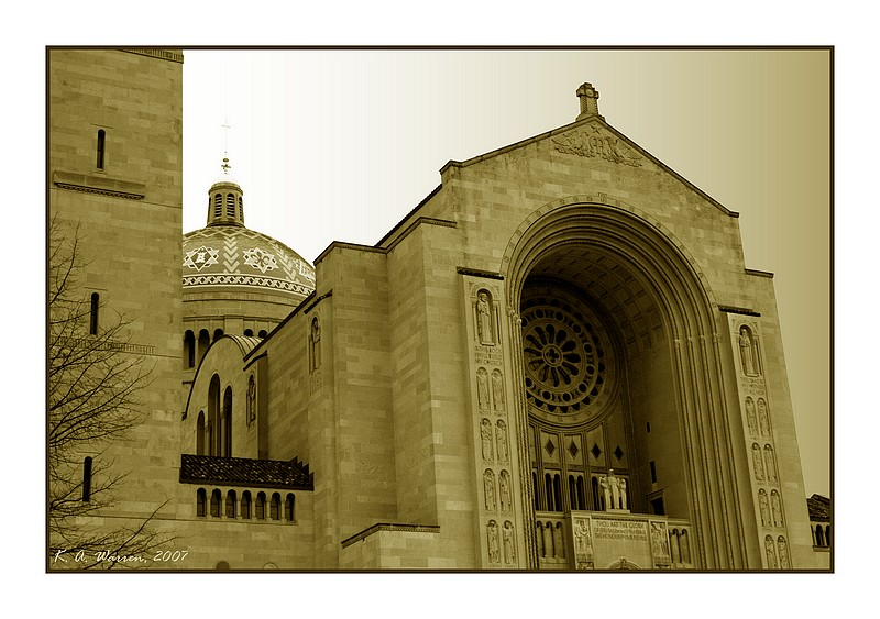 The National Shrine (in Old Sepia)