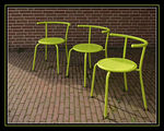 Title: 3 yellow chairs