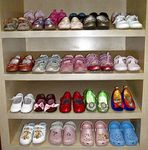 Title: Shoes on Little Girl´s Closet