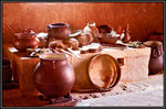 Title: Colonial-Time Kitchenware