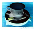 Title: Cup of Coffee on the rocks