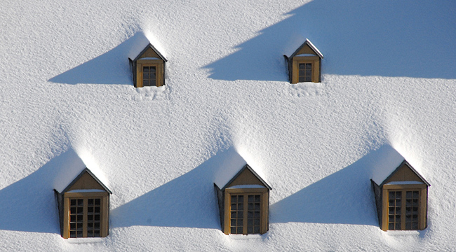 Snow on the roof
