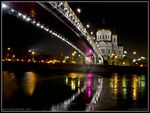 Title: Lights of Cathedral & Bridge