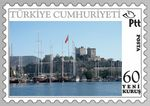 Title: turkish stamp of bodrum castle