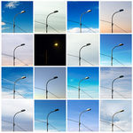 Title: Street lamp - Same view different moment