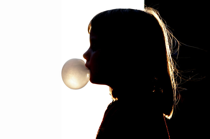 Girl and the bubble