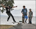 Title: Skate Boarding at the BeachCanon EOS 30D