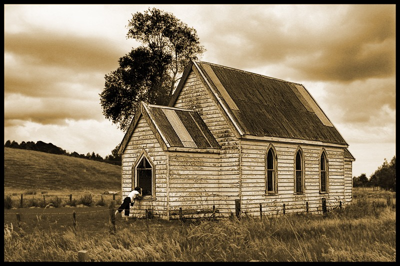 Old Abandoned Church in Sepia