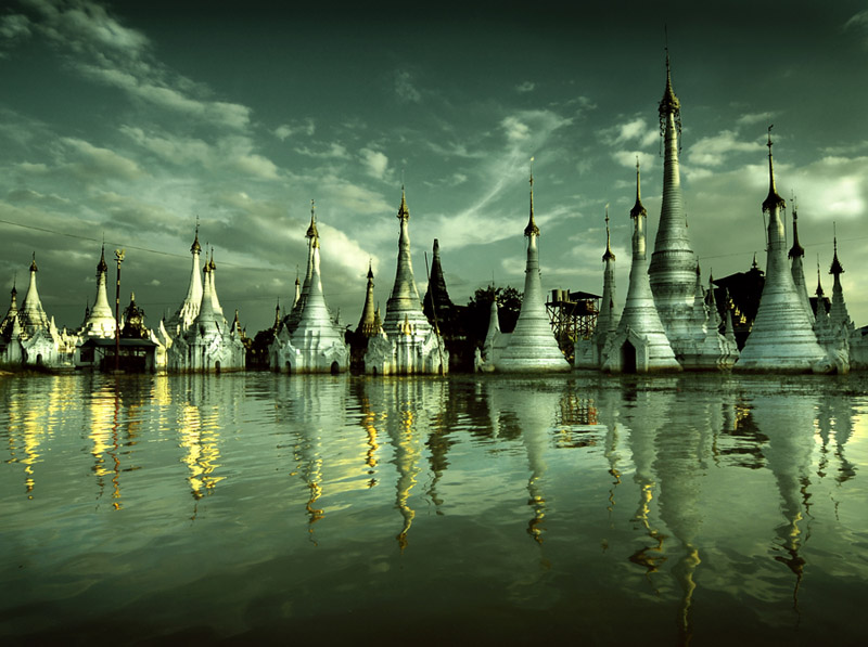 pagodas in reflection...