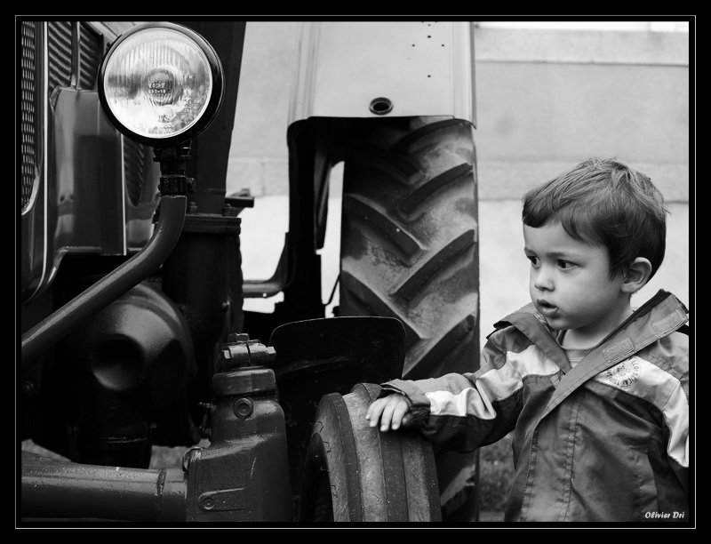 The boy and the tractor *transport crop*