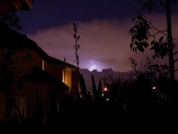 lightning storm in the distance