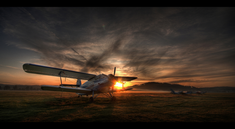 Morning airfield...