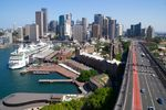 Title: Sydney CBD from Harbour BridgeSony Alpha DSLR A300