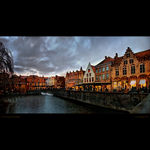 Title: Winter evening in Brugge