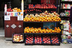 Title: Fresh seasonal fruit stand