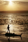 Title: Boy on a Reed Raft on Lake AwasaCanon 5D