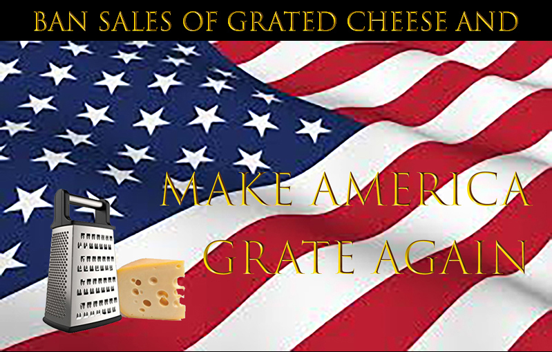 Sales of grated cheese