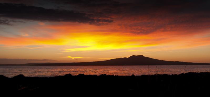 Rangitoto from Milford