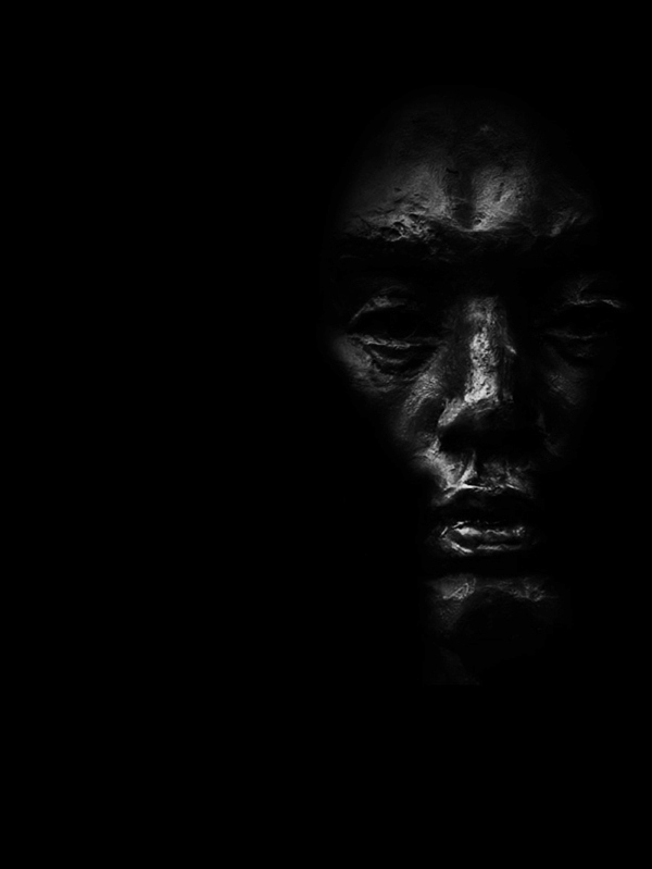 face in the dark