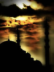 Title: Mosque in the evening