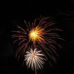 Title: New Year's fireworksCanon Powershot A620