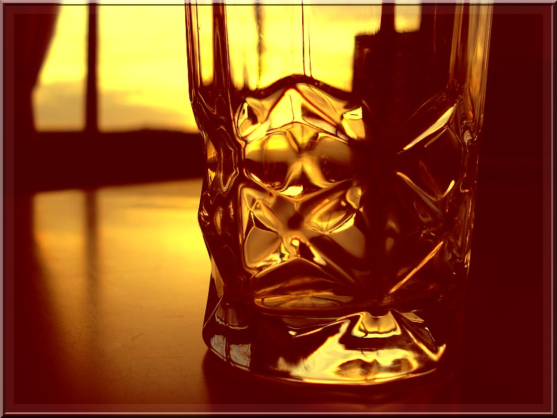 It's A Glass From Warm Abstract
