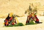 Title: Lunchtime at Giza