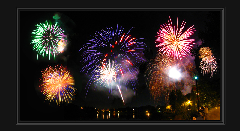 Colored fire works