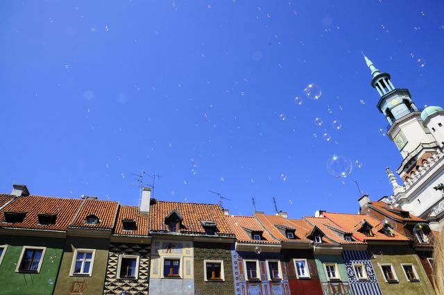 Old Market and soap bubbles