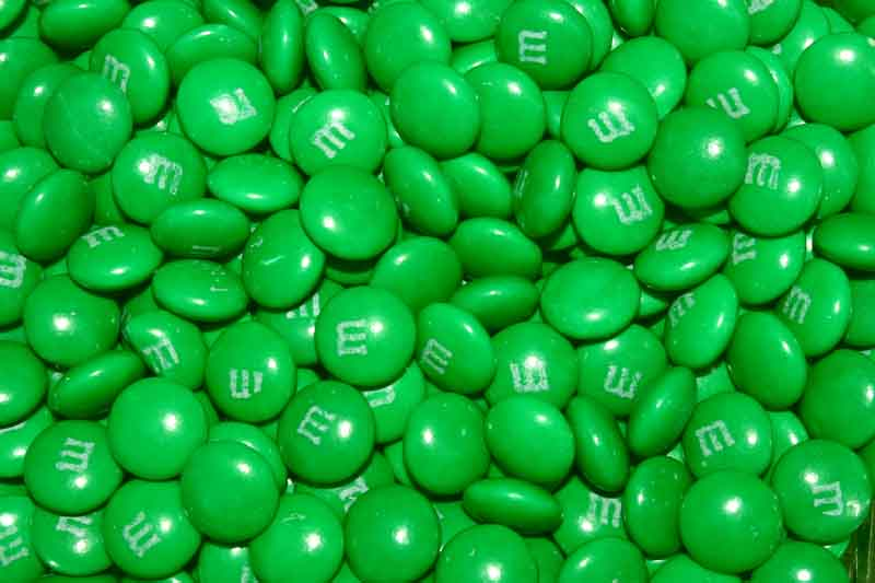 Green M&M's make you...