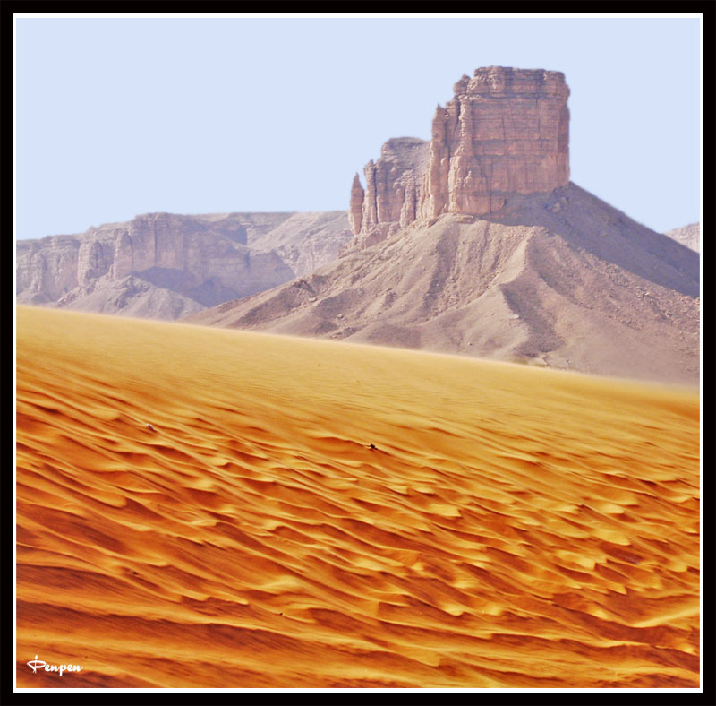 The Pinnacle and the sea of sand