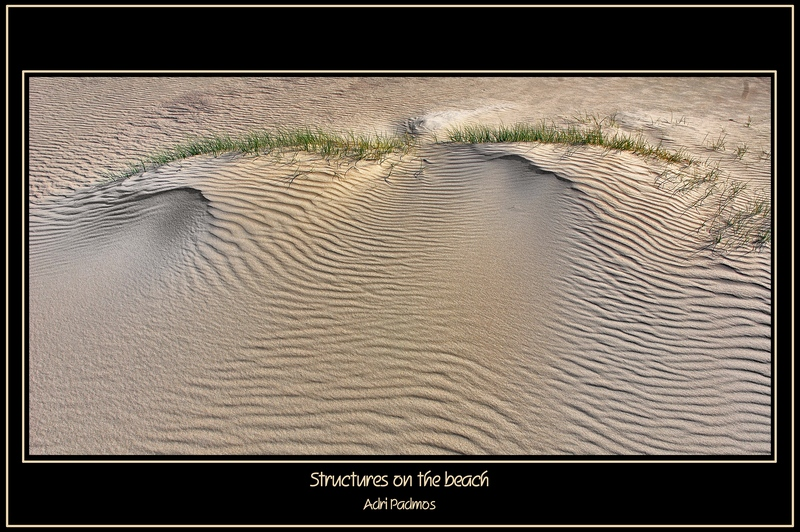 Structures on the beach