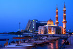 Title: Mosque in Blue Hour