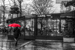 Title: The red umbrellaSony alpha 230